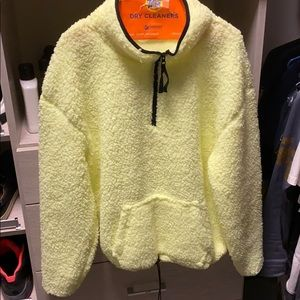 Neon Yellow sweater with tighter